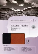 KJV Giant Print Reference Bible Black/Tan Imitation Leather