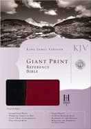 KJV Giant Print Reference Bible Black/Burgundy Imitation Leather
