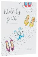 Notebook Journal: Walk By Faith (White/women's Colourful Shoes) Stationery