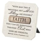 Plaque: Faith (Polyresin) Plaque
