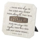 Plaque: Hope (Polyresin) Plaque