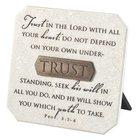 Plaque: Trust (Polyresin) Plaque
