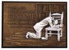 Small Moments of Faith Plaque Praying Man Plaque