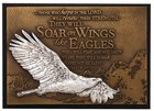 Small Moments of Faith Plaque Soaring Eagle