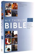 NIV Large Print Thinline Bible (Red Letter Edition) Hardback