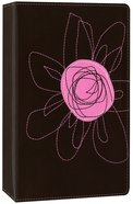 NIV Student Bible Compact Espresso/Pink Flower Italian Duo-Tone Imitation Leather