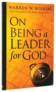 On Being a Leader For God Paperback