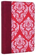NLT Compact Bible Fuchsia Floral/Plum (Black Letter Edition) Imitation Leather