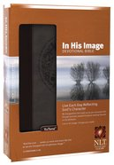 NLT in His Image Devotional Brown/Dusty Blue (Black Letter Edition) Imitation Leather