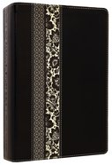 NLT Parallel Study Bible Black/Ornate Floral (Black Letter Edition) Imitation Leather
