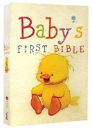 NKJV Baby's First Bible Pastel Yellow (Red Letter Edition) Hardback