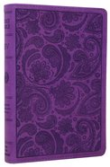 ESV Compact Bible Purple Paisley Design (Black Letter Edition) Imitation Leather