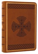 HCSB Compact Large Print Tan Celtic Design Imitation Leather