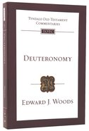Deuteronomy (Tyndale Old Testament Commentary (2020 Edition) Series) Pb Large Format