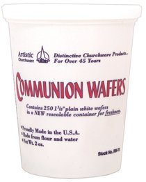 "Communion Bread: Plain Round (1 1/8"") (Rw-70) (250 Wafers)"