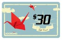 Koorong Gift Card $30.00