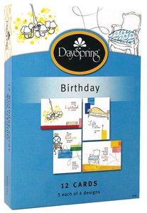 Boxed Cards Birthday: Sassy Chic