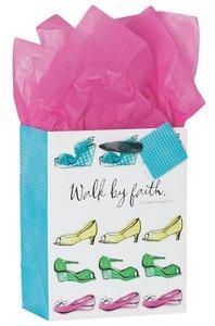 Gift Bag Medium: Walk By Faith (Incl Tissue Paper & Gift Tag)
