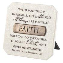Plaque: Faith (Polyresin)