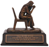 Small Moments of Faith Sculpture: Praying Woman