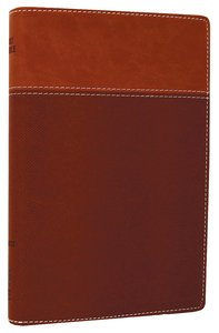 NIV Thinline Bible Tan/Dark Tan Duo-Tone (Red Letter Edition)