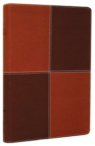 NIV Large Print Thinline Caramel Chocolate Duo-Tone (Red Letter Edition)