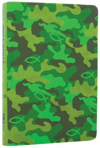 NIV Backpack Camo Green Duo-Tone Bible (Red Letter Edition)
