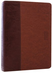 NLT Parallel Study Brown/Tan (Black Letter Edition)