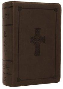 ESV Study Bible Personal Size Olive Celtic Cross Trutone (Black Letter Edition)
