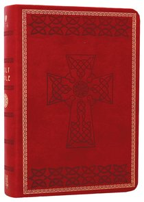 HCSB Compact Large Print Crimson Red Celtic Design