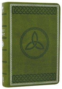 HCSB Compact Large Print Olive Green Celtic Design