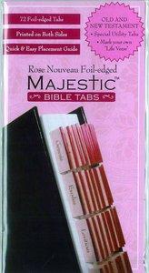 Majestic Bible Tabs Rose Nouveau Foil-Edged
