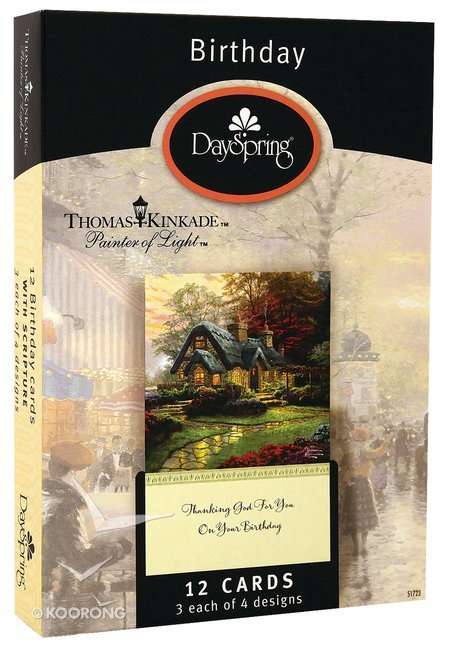 Buy Boxed Cards Birthday Thomas Kinkade Painter Of Light Online