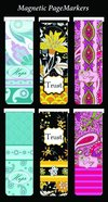 Bookmark Magnetic: Hope, Trust, Joy (Set Of 6) Stationery