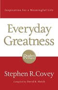 Everyday Greatness eBook