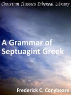 Grammar of Septuagint Greek eBook