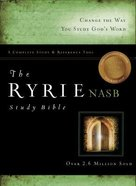 NASB Ryrie Study Bible Black Indexed (Red Letter Edition)
