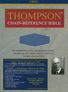 KJV Thompson Chain Reference Handy Size Blue Imitation Leather