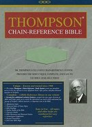 KJV Thompson Chain Reference Handy Size Sage Green Imitation Leather