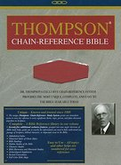 KJV Thompson Chain Reference Handy Size Red Imitation Leather