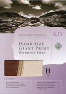 KJV Giant Print Reference Hand Size Brown Duo-Tone Imitation Leather