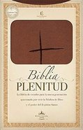 Rvr 1960 Biblia Plenitud Manual Terracota (Red Letter Edition) (Handy Size) Premium Imitation Leather