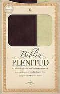 Biblia Plenitud Manual (Spanish) Brown/Cream (Plenitud Handy Size) Imitation Leather