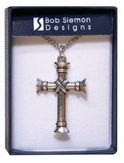 Pendant: Cross Wrapped Pillar (Pewter) Jewellery