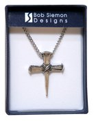 Pendant: Cross Nails (Pewter) Jewellery