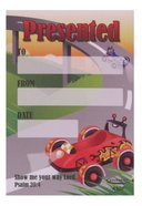 Presented Label: Race Car (50 Pack)