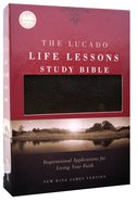 NKJV Lucado Life Lessons Study Bible Black Bonded Leather