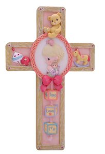 Precious Moments Wall Cross: Girl, Jesus Loves Me
