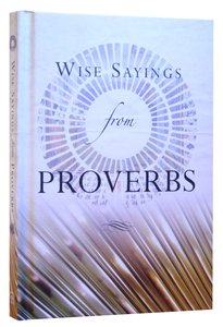 Wise Saying of Proverbs
