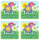 Sticker Pack: Smile, God Loves You! Novelty
